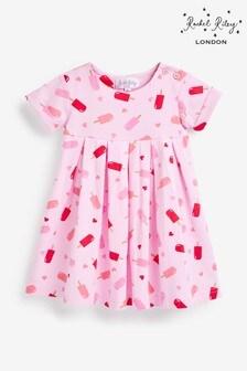 Розовое платье с принтом мороженого и короткие штанишкиRachel Riley