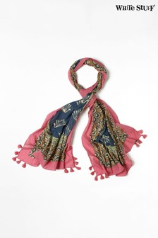 White Stuff Pink Carrie Organic Cotton Scarf