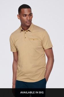 Regular Fit Geometric Print Polo