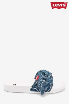Levi's® Pantoletten mit Bandana-Print, marineblau