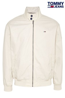 Tommy Jeans Cream Cuffed Cotton Jacket