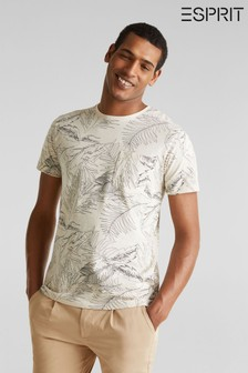 Esprit Natural T-Shirt With Leaf Print