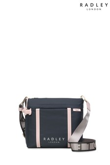 Radley Grey Crofters Way Small Zip Top Cross Body Bag