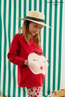 Sonia Rykiel Paris Red Apple Sweater