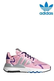 adidas Originals Grey/Pink Nite Jogger Trainers