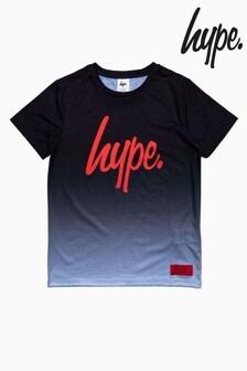 Hype. Fade Red Script T-Shirt