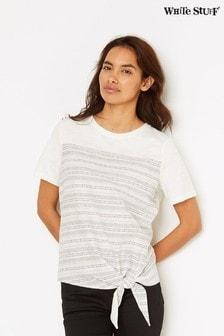 White Stuff Natural Stripe And Knot T-Shirt