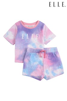 ELLE Cloud Print Tee & Shorts Set