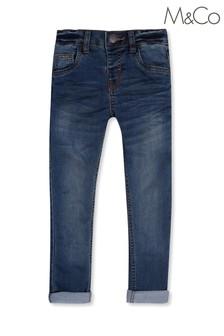 M&Co Blue Pull-On Jersey Jeans