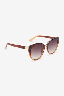نظارة شمسية براقة طراز عين قطة