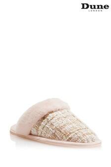 Розовые тапочки с теплой подкладкой Dune London Snoozes