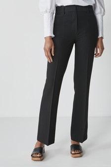 Bootcut-Hose mit elastischer Rückseite