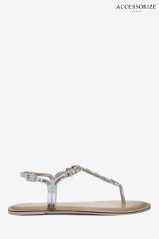Accessorize Silver Reno Silver Sandals