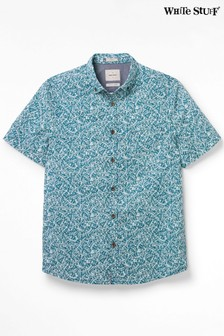 White Stuff Blue Ardglass Print Shirt