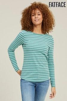 FatFace Green Organic Cotton Breton T-Shirt