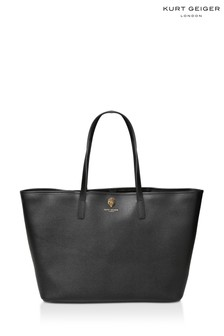 Kurt Geiger London Richmond Black Shopper Bag