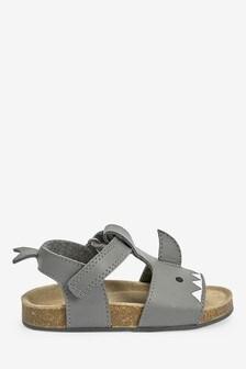 Кожаные сандалии на пробковой подошве с Т-образным ремешком (Младшего возраста)