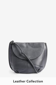 Leather Knot Strap Shoulder Bag