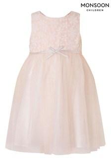 Monsoon嬰兒裝蕾絲薄紗連衣裙