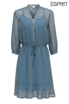فستان منسوج أزرق فاتح منEsprit