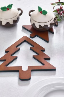 Set of 2 Christmas Tree Trivets