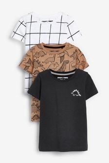 3 Pack Dino T-Shirts (3mths-7yrs)