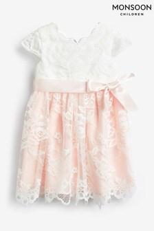 Monsoon Pink Baby Artoise Lace Dress