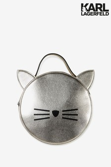 Karl Lagerfeld Gold Cat Logo Shoulder Bag