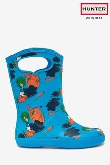 Hunter Kids Grab Handle Peter Rabbit Wellington Boots