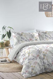 D&D White Maisie Duvet Cover And Pillowcase Set