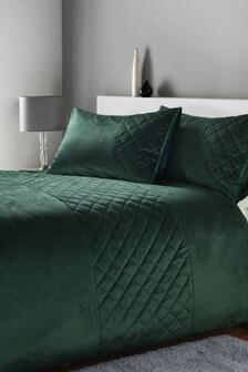 Hamilton Bettbezug und Kissenbezug aus Samt
