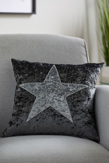 Crushed Velvet Star Cushion