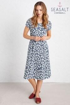 Seasalt Riviera Kleid in Kurzgrößen, blau