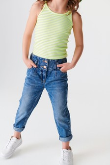 Jean Mom taille basse (3-16 ans)