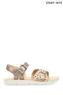 Start-Rite Enchant Gold Metallic Leather Sandals