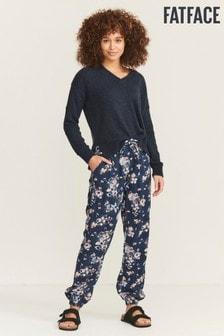 FatFace Blue Lyme Polka Dot Meadow Cuffed Trousers