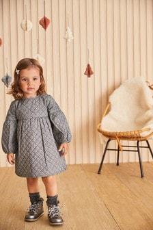 فستان مبطن مطبوع (3 شهور -7 سنوات)