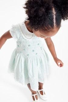 Платье для выпускного со сборками и вышивкой (3 мес.-7 лет)
