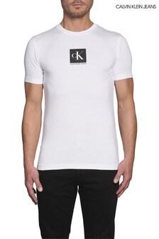Calvin Klein Jeans White Centre Monogram Box T-Shirt