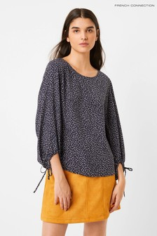 French Connection Blue Chinwe Light Long Sleeve Top