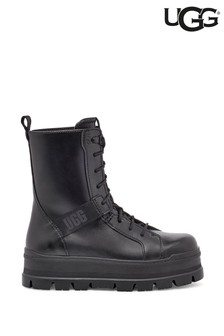 UGG® Black Sheena Punk Combat Boots