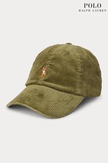 כובע מצחייה מקורדרוי שלPoloRalph Lauren