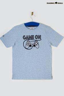 Raging Bull Blue Game On T-Shirt