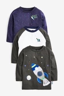 3 Pack Rocket T-Shirts (3mths-7yrs)