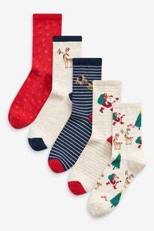 Lot de 5 paires de socquettes de Noël