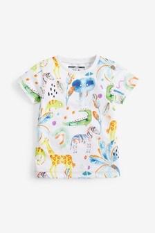 Tričko s krátkymi rukávmi so zvieratkami (3 mes. – 7 rok.)