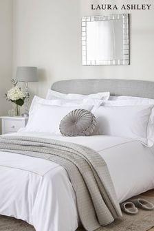 Laura Ashley Dove Grey Mayfair Duvet Cover And Pillowcase Set