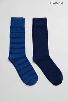 GANT Blue Double Breton Socks Two Pack