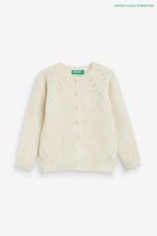 Benetton Cream Cardigan