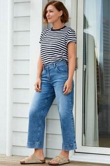 Emma Willis Wide Leg Cropped Jeans